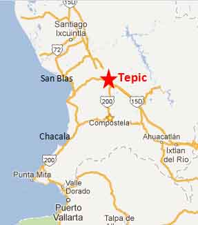 Where is tepic nayarit