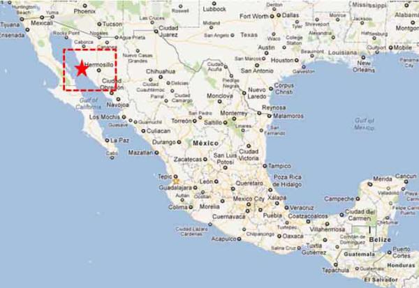 Bahia Kino Map