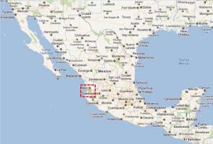La Penita map