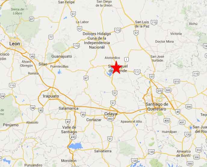 San Miguel de Allende map 2