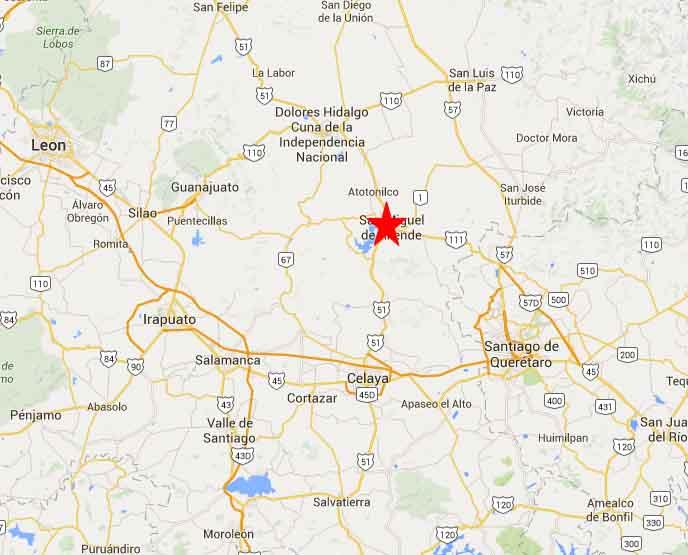 San Miguel De Allende Map 2 On The Road In Mexico