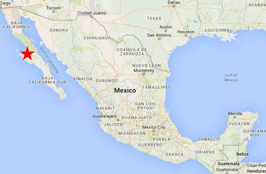 Guerrero Negro Map