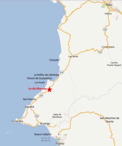 Lo de Marcos Map