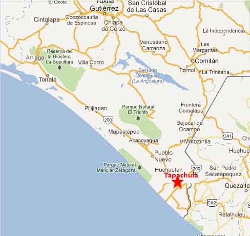 Tapachula map 2 | On The Road In Mexico