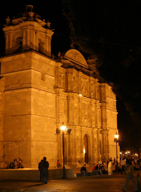 oaxacanightcathedral