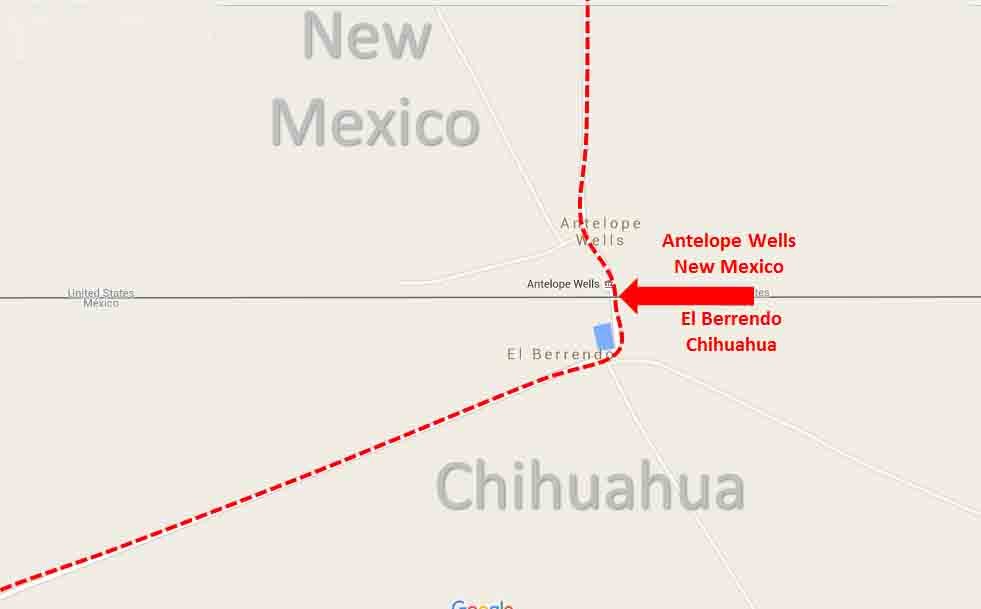 Map Of Us Mexico Border Crossings.Antelope Wells New Mexico El Berrendo Chihuahua Border Crossing