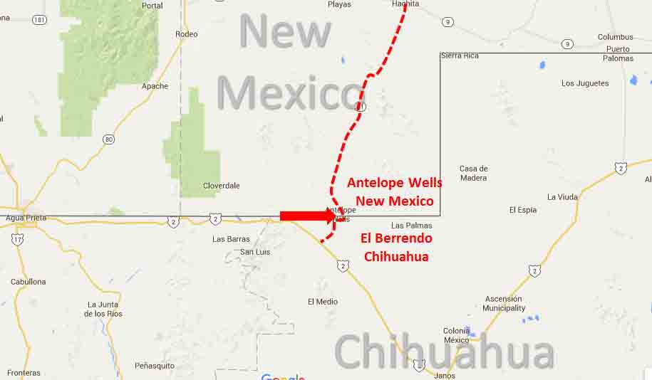 Antelope Wells New Mexico El Berrendo Chihuahua Border Crossing