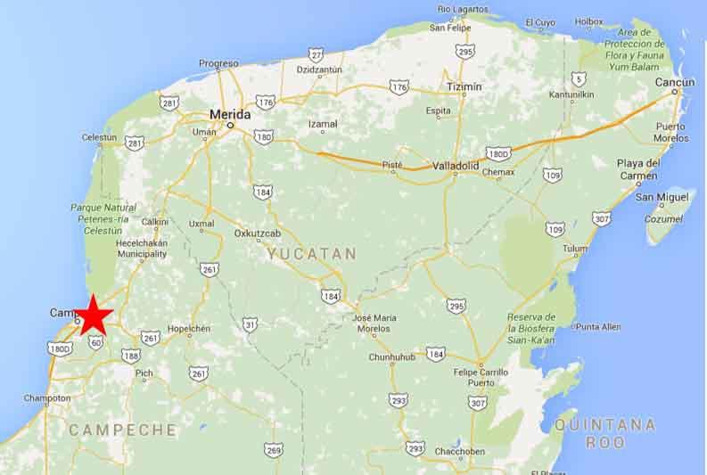 Campeche Map 2