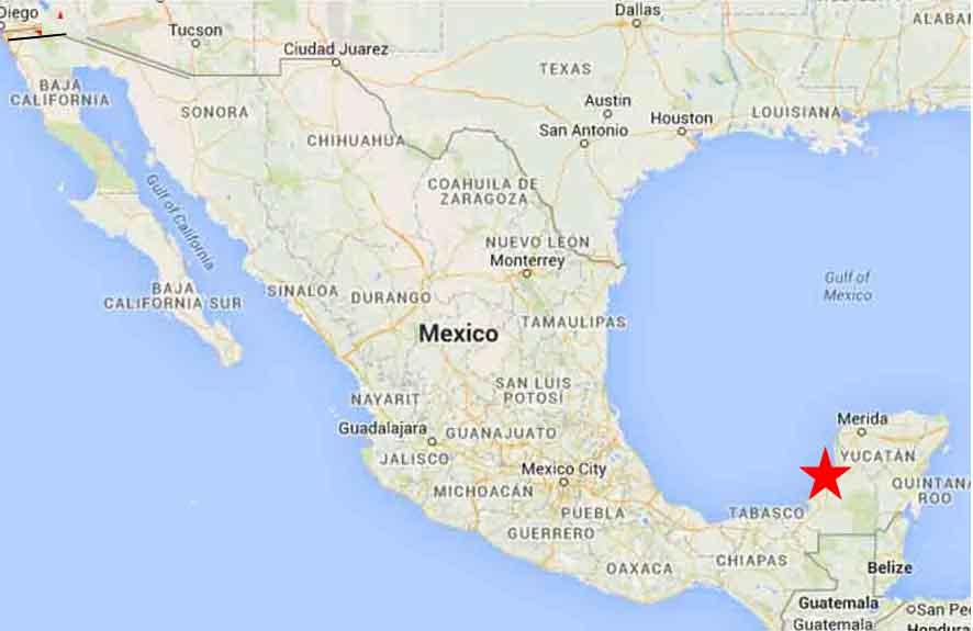 Campeche map 1