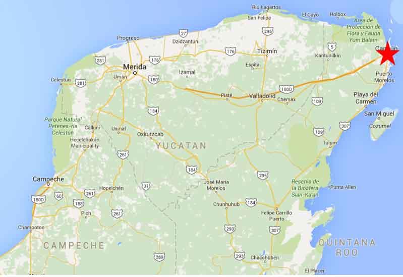 Cancun Quintana Roo Mexico Map.Cancun Quintana Roo