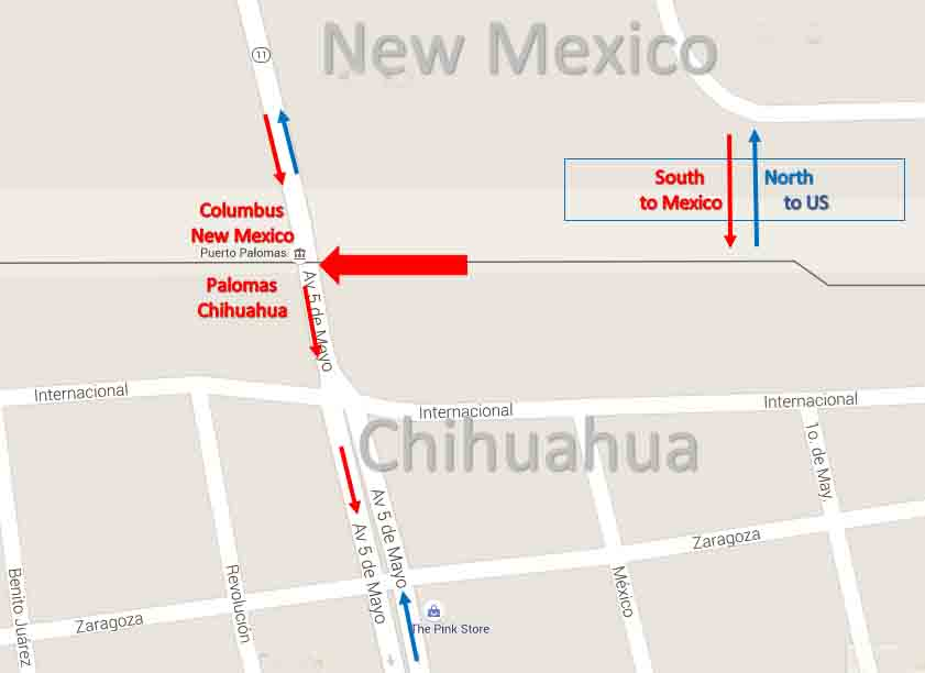 Columbus New Mexico Palomas Chihuahua Border Crossing