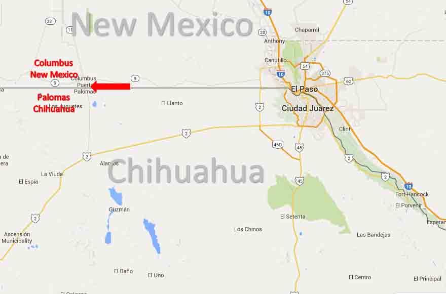 Columbus, New Mexico   Palomas, Chihuahua Border Crossing