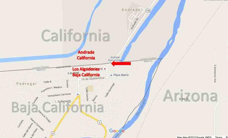Los Algodones BorderMap 2a
