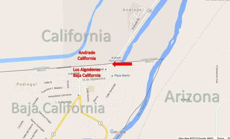 Andrade California Los Algodones Baja California