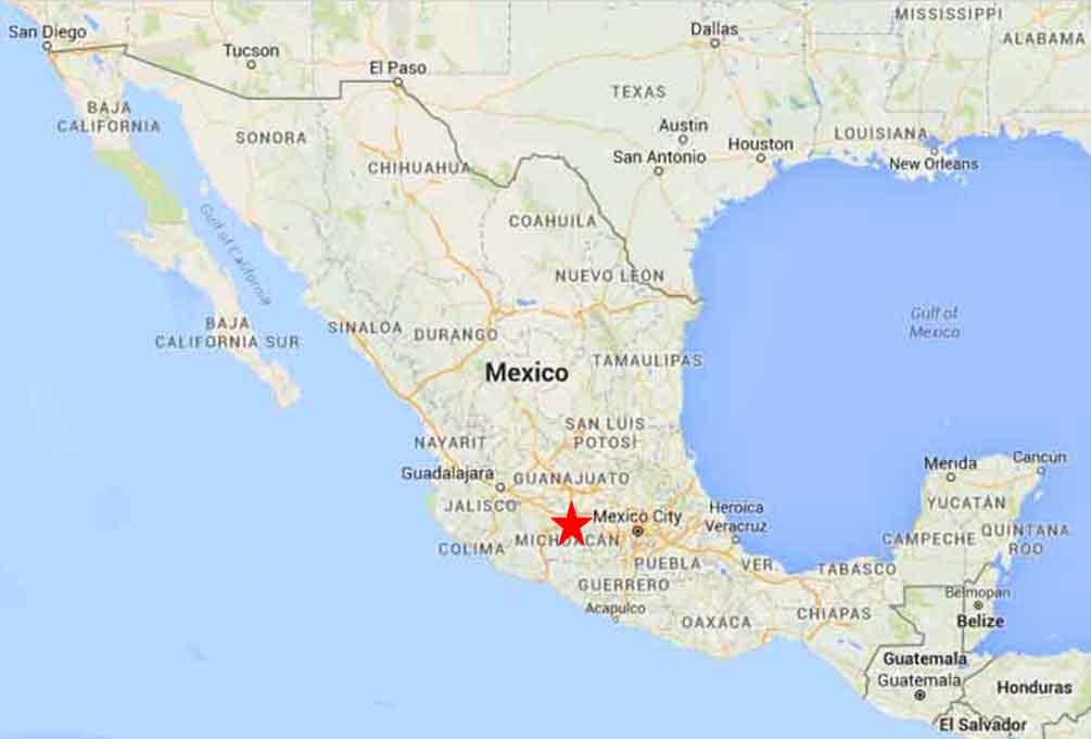 Morelia Mexico Map | compressportnederland