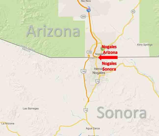 Nogales Arizona Nogales Sonora Border Crossing