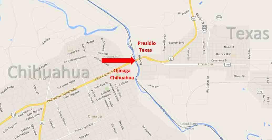 Presidio Texas Ojinaga Chihuahua Border Crossing