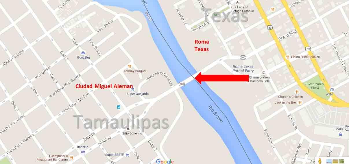 Roma, Texas - Ciudad Miguel Aleman, Tamaulipas Border