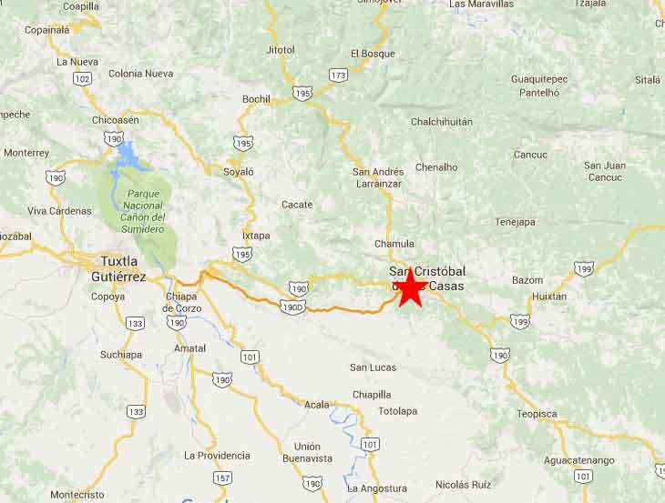 San Cristobal De Las Casas Map 2 On The Road In Mexico