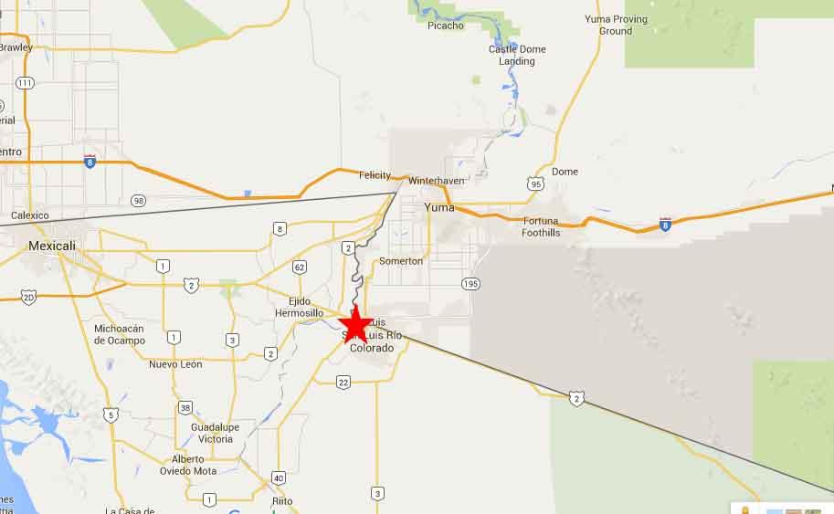 San Luis Rio Colorado Map 2 On The Road In Mexico