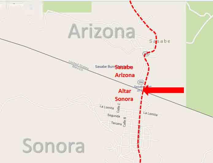 Sasabe, Arizona   Altar, Sonora Border Crossing