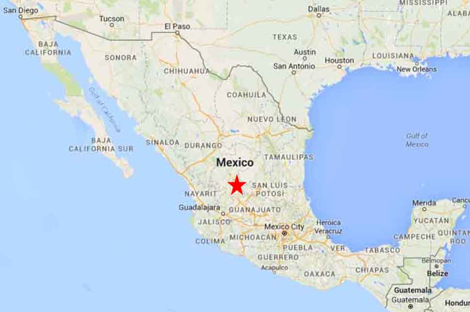 Zacatecas On The Road In Mexico: Map Of Mexico Zacatecas At Usa Maps