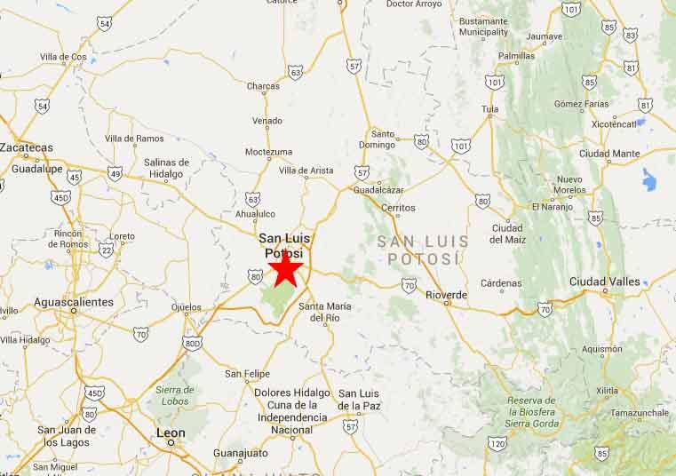 san Luis Potosi Map 2