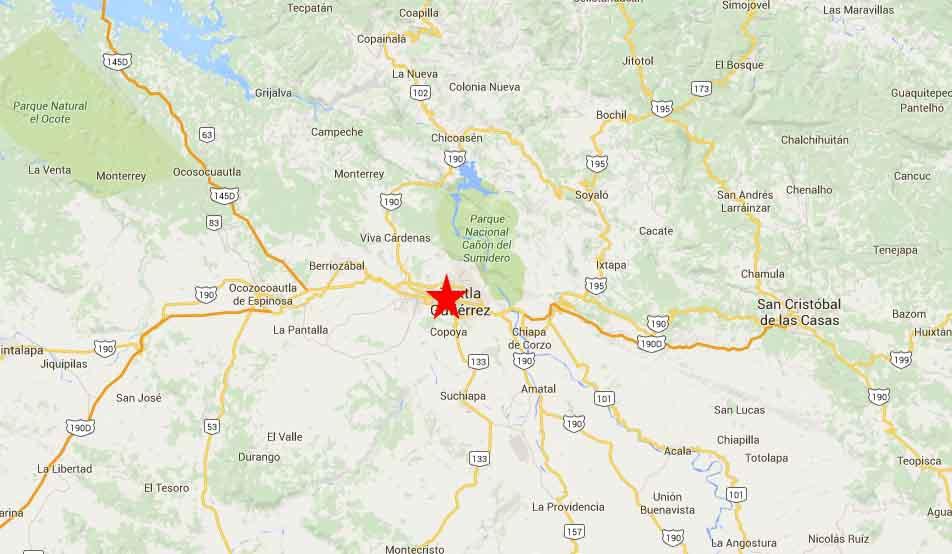 tuxtla Gutierrez Map 2