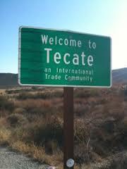 Tecate sign