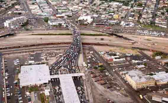 El Paso Texas Ciudad Juaez Chihuahua Border Crossing