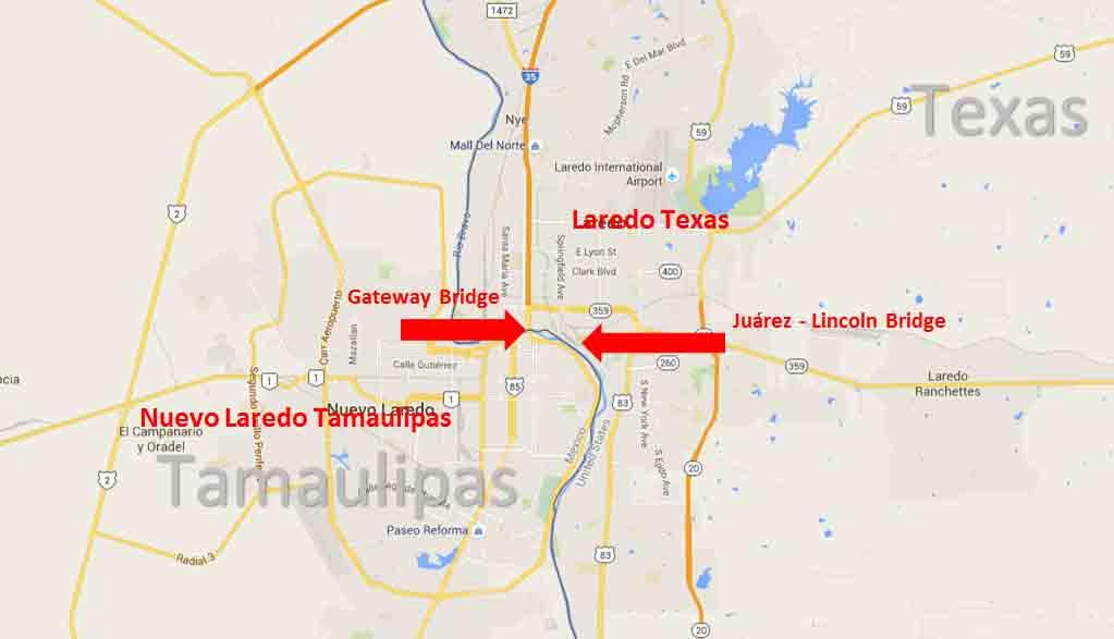 Laredo, Texas - Nuevo Laredo, Tamaulipas Border Crossing